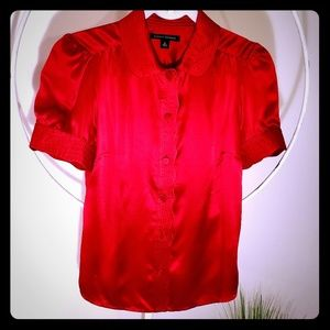 Red Banana Republic sz S 100% SILK shirt